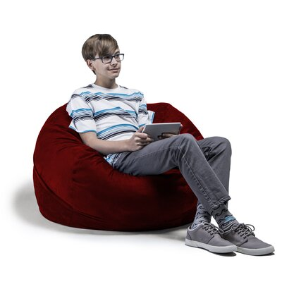 Kids Bean Bag Chair Upholstery: Cinnabar