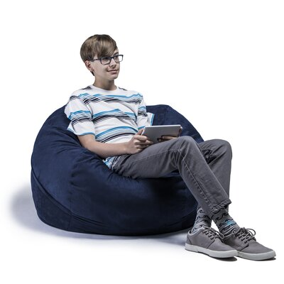 Kids Bean Bag Chair Upholstery: Microsuede Navy