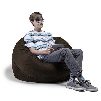 Kids Bean Bag Chair Upholstery: Chocolate
