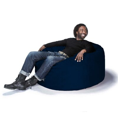 Large Bean Bag Chair Upholstery: Microsuede Navy