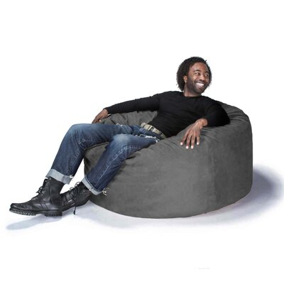Large Bean Bag Chair Upholstery: Microsuede Charcoal