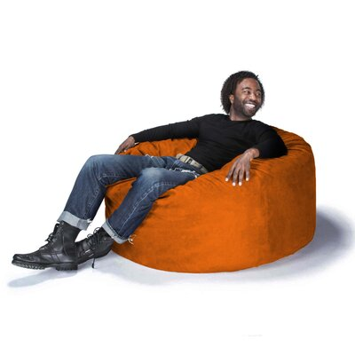 Large Bean Bag Chair Upholstery: Microsuede Orange
