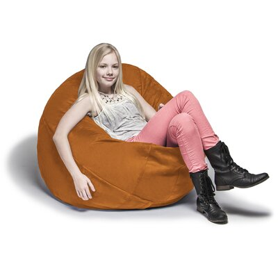 Cocoon Bean Bag Lounger Upholstery: Orange