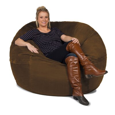 Giant Bean Bag Chair Upholstery: Chocolate