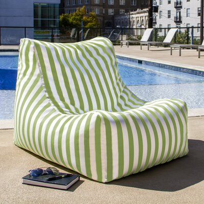Ponce Outdoor Striped Patio Lounge Chair Upholstery: Lime Striped