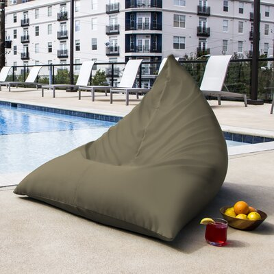 Twist Outdoor Bean Bag Chair Upholstery: Taupe