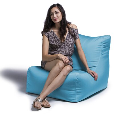 Ponce Outdoor Patio Lounge Chair Upholstery: Light Blue