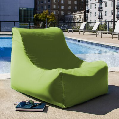 Ponce Outdoor Patio Lounge Chair Upholstery: Lime