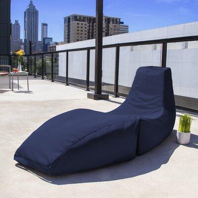 Prado Outdoor Bean Bag Chaise Lounge Chair Color: Navy