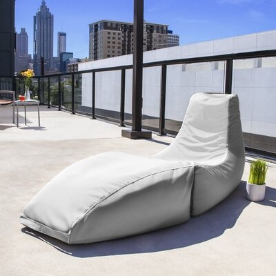 Prado Outdoor Bean Bag Chaise Lounge Chair Color: White
