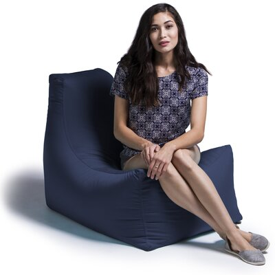 Juniper Bean Bag Lounger Upholstery: Navy