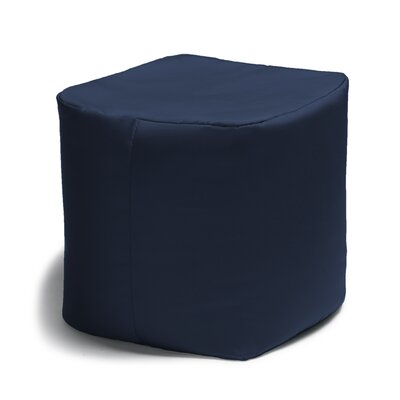 Ayala Square Outdoor Pouf Ottoman Color: Navy