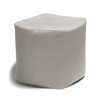 Ayala Square Outdoor Pouf Ottoman Color: White
