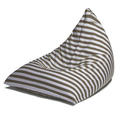 Twist Outdoor Bean Bag Chair Upholstery: Taupe Striped