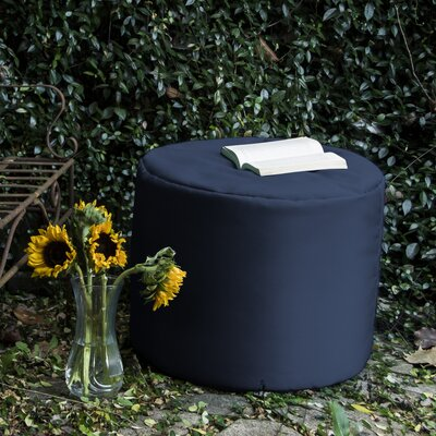 Ayala Outdoor Pouf Ottoman Color: Navy