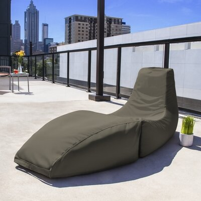 Prado Outdoor Bean Bag Chaise Lounge Chair Color: Taupe