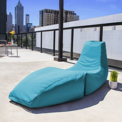 Prado Outdoor Bean Bag Chaise Lounge Chair Color: Lagoon Blue