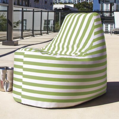 Avondale Bean Bag Color: Lime Striped