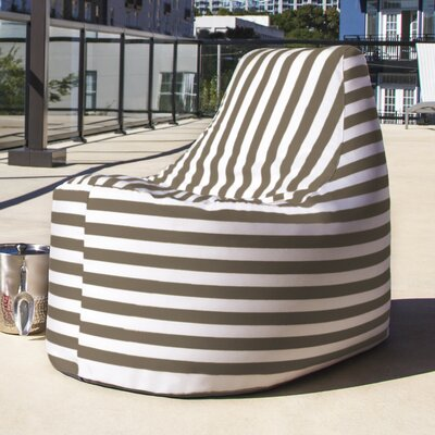Avondale Bean Bag Color: Taupe Striped