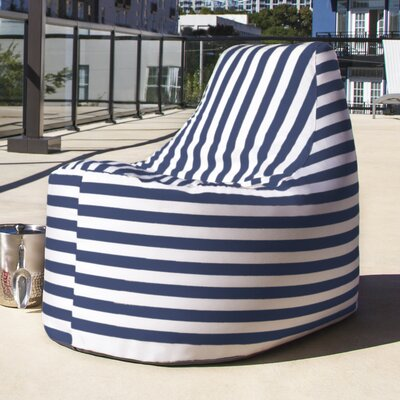 Avondale Bean Bag Color: Navy Striped