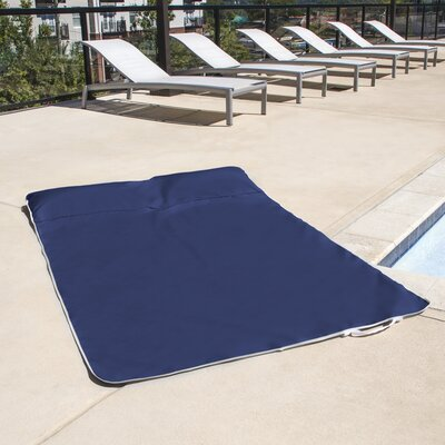 Beltline Two-Person Outdoor Travel Picnic and Beach Blanket with Headrests Color: Navy