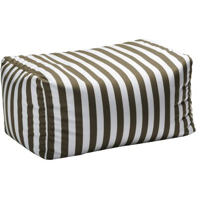 Leon Outdoor Striped Bean Bag Ottoman Upholstery: Taupe Striped
