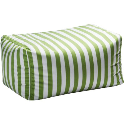 Leon Outdoor Striped Bean Bag Ottoman Upholstery: Lime Striped