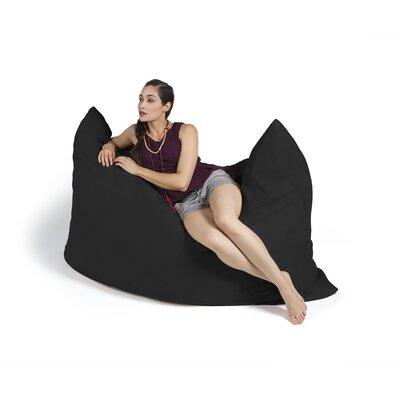 Pillow Saxx Bean Bag Lounger Upholstery: Black