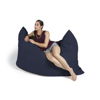 Pillow Saxx Bean Bag Lounger Upholstery: Microsuede Navy