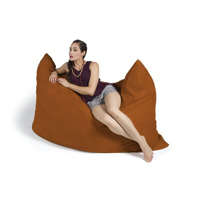 Pillow Saxx Bean Bag Lounger Upholstery: Microsuede Orange