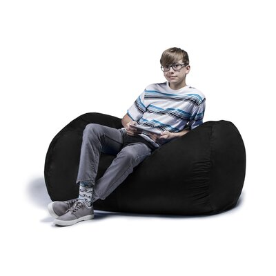 Jaxx Jr. Bean Bag Lounger Upholstery: Black