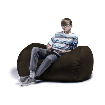 Jaxx Jr. Bean Bag Lounger Upholstery: Chocolate