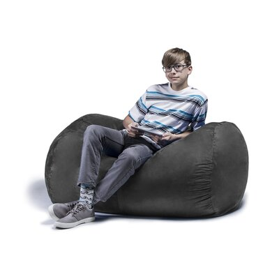 Jaxx Jr. Bean Bag Lounger Upholstery: Charcoal