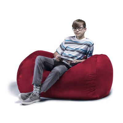 Jaxx Jr. Bean Bag Lounger Upholstery: Cherry