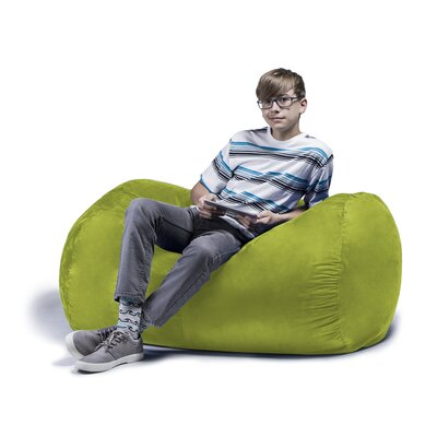 Jaxx Jr. Bean Bag Lounger Upholstery: Lime