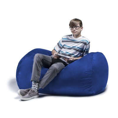 Jaxx Jr. Bean Bag Lounger Upholstery: Blueberry