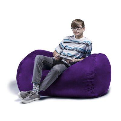Jaxx Jr. Bean Bag Lounger Upholstery: Plum