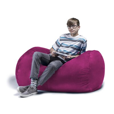 Jaxx Jr. Bean Bag Lounger Upholstery: Fuchsia