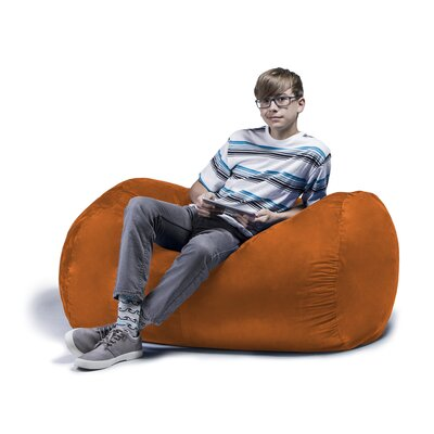 Jaxx Jr. Bean Bag Lounger Upholstery: Pumpkin
