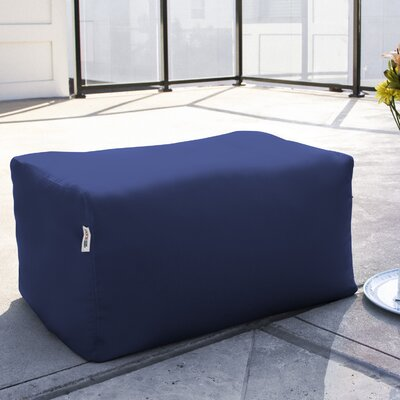 Bowman Outdoor Bean Bag Ottoman Upholstery: Navy