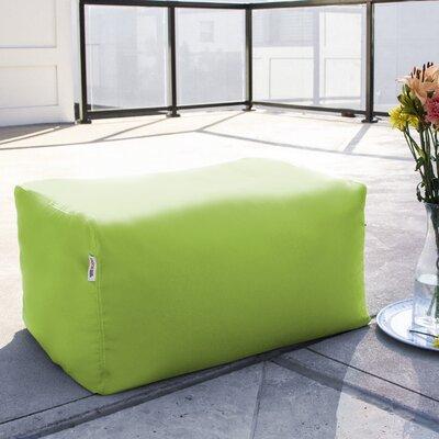 Bowman Outdoor Bean Bag Ottoman Upholstery: Lime