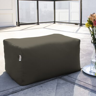 Bowman Outdoor Bean Bag Ottoman Upholstery: Taupe