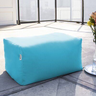 Bowman Outdoor Bean Bag Ottoman Upholstery: Light Blue