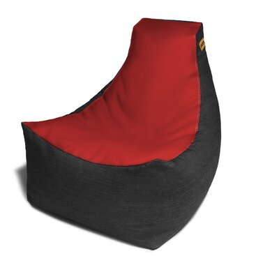 Pixel Bean Bag Chair Upholstery: Red