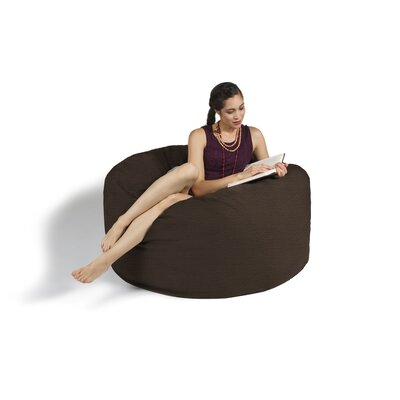 Bean Bag Lounger Upholstery: Brown