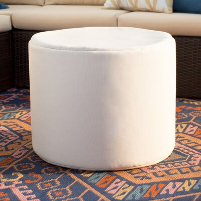 Jaxx Outdoor Pouf Ottoman Color: White