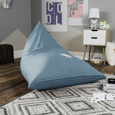 Pivot Kids Bean Bag Lounger Chair with Cotton Cover Upholstery: Ocean