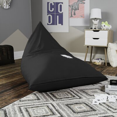 Pivot Kids Bean Bag Lounger Chair with Cotton Cover Upholstery: Graphite