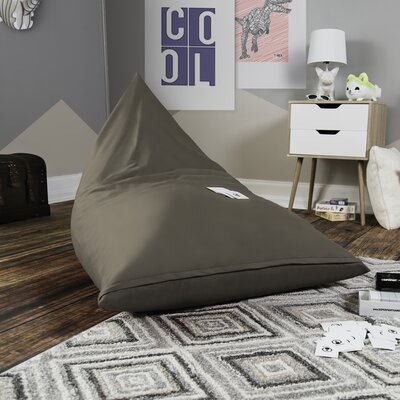 Pivot Kids Bean Bag Lounger Chair with Cotton Cover Upholstery: Khaki