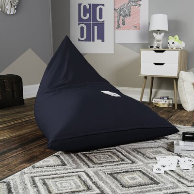 Pivot Kids Bean Bag Lounger Chair with Cotton Cover Upholstery: Navy